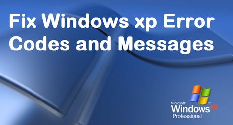 Fix Windows XP Error Codes